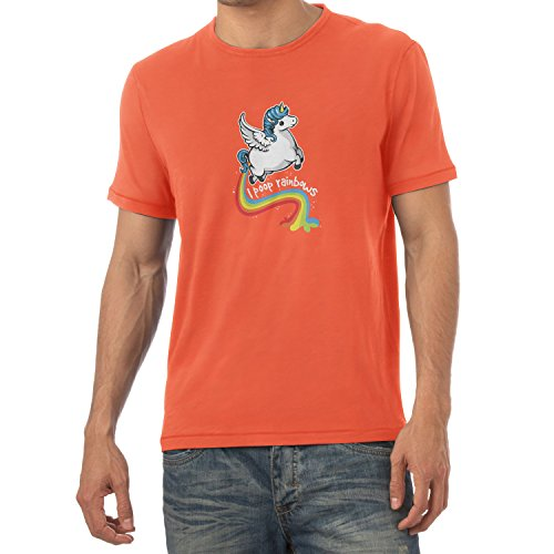 NERDO - I poop Rainbows - Herren T-Shirt, Größe S, (Sushi Kostüm Niedliche)
