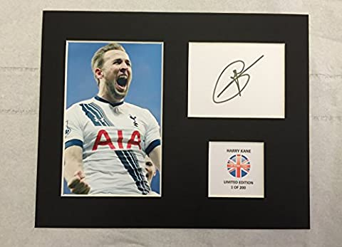 LIMITED EDITION HARRY KANE SIGNED DISPLAY PRINTED AUTOGRAPH FOOTBALL AUTOGRAPH