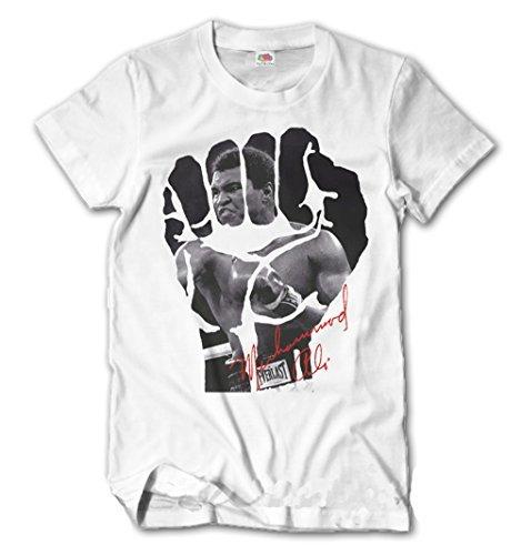 Herren T-Shirt Muhammad Ali Slim Fit Boxen Sport Trikot Cassius Clay S-XXL