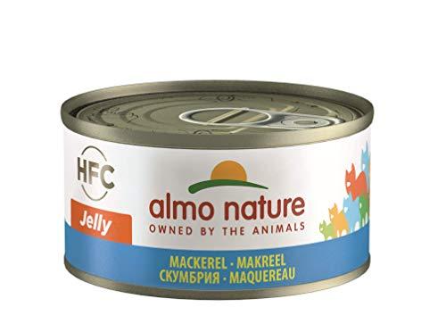 almo nature HFC Jelly de Wet pour Chat avec maquereau (Lot de 24x 70g Boîtes) (Lot de 24x 70g Boîtes)