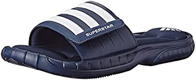 Adidas Superstar 3G Slide Sandal, negro / plata / gris, 5 M US