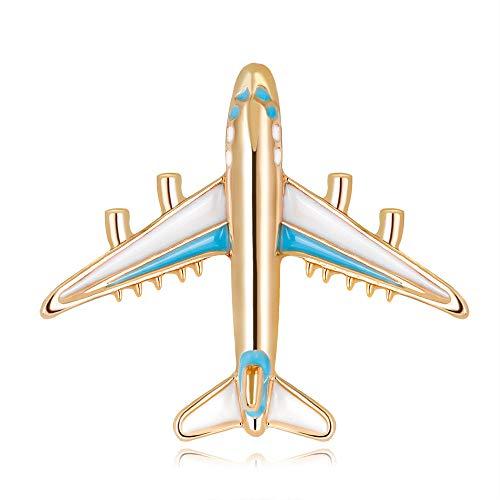 Goodplan Premium Qualität Legierung Flugzeug Brosche Pins Emaille Flugzeug Broschen Für Frauen Männer Kostüme Flugzeug Brosche Blau