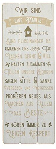 Bada Bing Plankenschild 80 x 30 Familie Familienregeln Spruch Schild Deko Wandbild 09