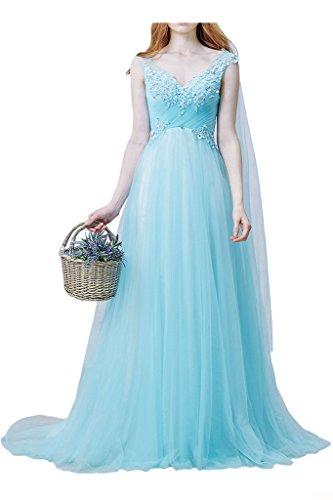 Milano Bride Damen Prinzess VAusschnitt Tuell Abendkleid Promkleid ...