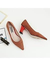 Xue Qiqi Court Schuhe Dick mit Runden Sandalen Flachen Mund mit der Tasche mit Einer Einzelnen Schuhe Weibliche...