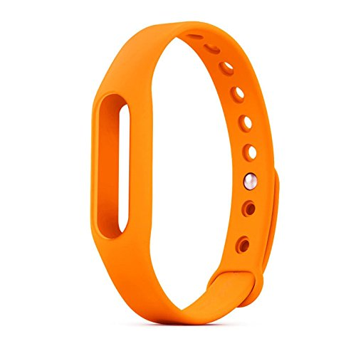 mStick Wrist Strap Band Belt Wristband Silicone Wearable Case Cover For Xiaomi Mi Band 1A / 1S - Orange (Not For Mi Band 2)  available at amazon for Rs.199