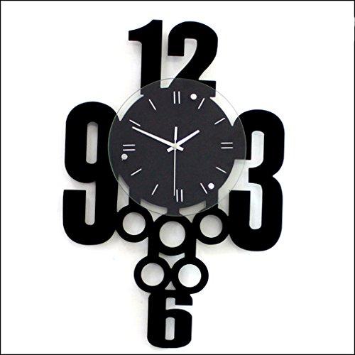 horloge murale créative/Maison Bricolage décoratif Montre/Bois + Verre Artisanal Salon Miroir 3D Mur Conception