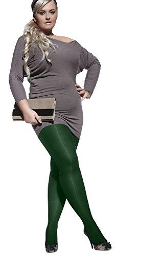 PLUS Größe Strumpfhose Amy mit speziellem Komfortzwickel xl-4X L von Adrian Gr. 5, Grün - Grün - Fancy Pants Panty