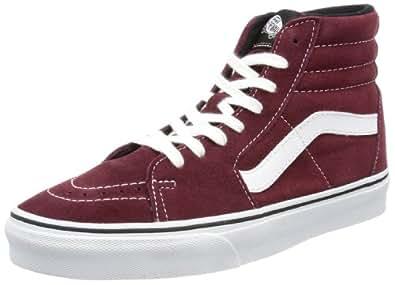 Vans U SK8-HI (SUEDE) PORT RO VTS96E0, Unisex-Erwachsene Sneaker, Rot ((Suede) port royale/black), EU 46 (US 12)