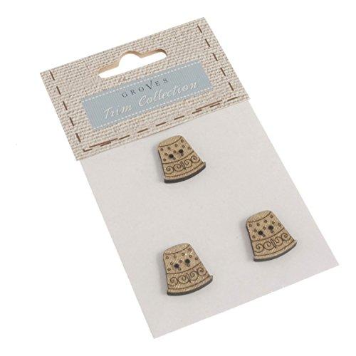 Paquete botones: dedales: tamaño: 20 mm: paquete: