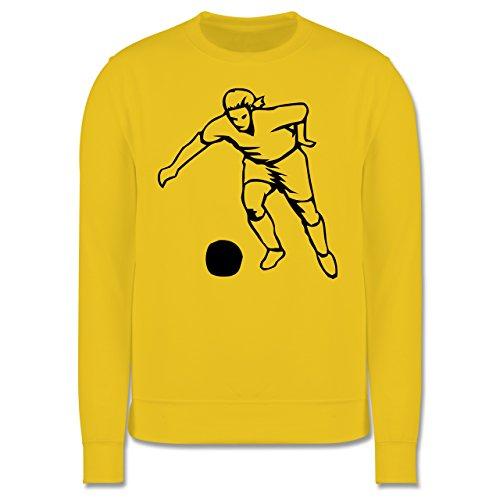 Fußball - Fußball - Herren Premium Pullover Gelb