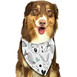 Rghkjlp Art Pet Bandana Washable Reversible Triangle Bibs Scarf - Kerchief for Small/Medium/Large Dogs & Cats