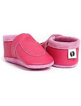 little foot company® 622 Krabbelschuhe Babyschuhe Lauflernschuhe Basic weiches Leder himbeer