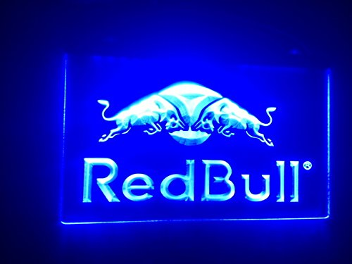 Red Bull Panneau Signe Publicité Neon LED Bleu