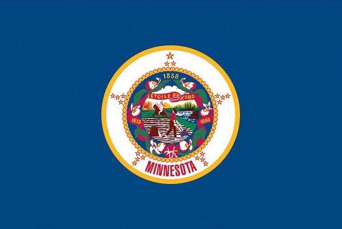 Valley Forge Flagge Amerika, 91,4 x 152,4 m, Nylon, Minnesota State Flag 0 3' x 5' Minnesota -