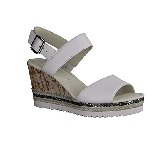 Gabor Fashion, Sandales Bout Ouvert Femme weiss (weiss)