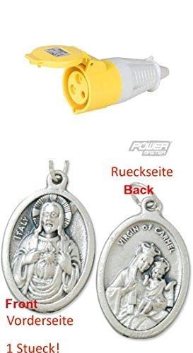 32-A-CEE-Steckdose, 110 V, Steckdose, Aufputz mit einem Anhänger Herz Jesu 2,5cm