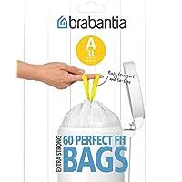 Brabantia 348983 - Bolsas basura, dispensador, 3 l, 60 unidades