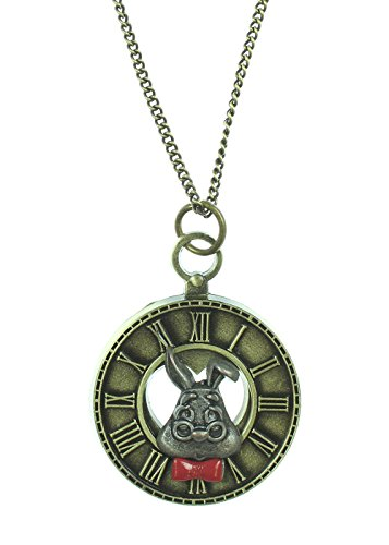 Disney Alice Im Wunderland White Rabbit Uhr Halskette (Rabbit Kostüm White Wunderland)