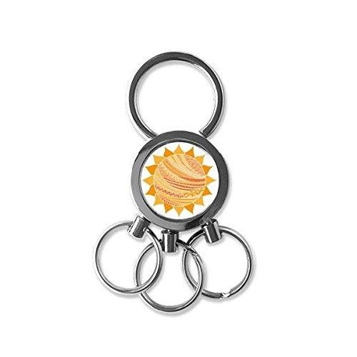 Islam islamico Religion Allah arabo Faith pellegrinaggio Sun totem decorazione arte modello metallo portachiavi anello portachiavi di Keychain creative Trinket novelty item Best charm