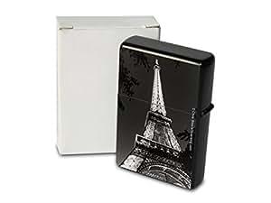 Briquet Tempete A Essence Rarement Imprimé Paris Tour Eiffel