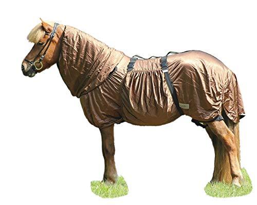 NETPROSHOP spezielle Isländer Qualitäts Ekzemer Decke für Islandpferde Braun, Groesse:110, Farbe:Braun