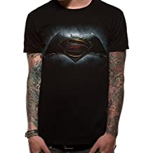 Batman v Superman Logo Camiseta Negro L