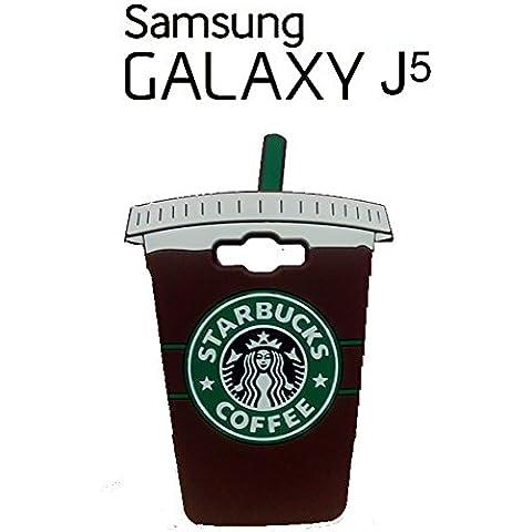 Suave 3D Starbucks piel funda Cover Carcasa Cubierta Caso Case Skin de silicona para el teléfono móvil para Samsung Galaxy J5