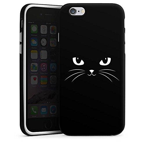 Apple iPhone X Silikon Hülle Case Schutzhülle Black Cat Katze Kater Silikon Case schwarz / weiß