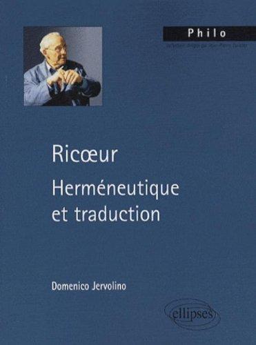Ricoeur Hermeneutique Et Traduction Pdf Online