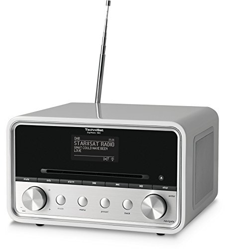 TechniSat DIGITRADIO 580 - Stereo Digitalradio mit CD-Player (DAB+, UKW, Internetradio, Multiroom-Streaming, Bluetooth, Steuerung per App, USB, 2 x 10 Watt) weiß -