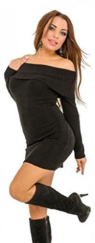 Generic - Robe - Chemise - Manches Longues - Femme Taille Unique Noir
