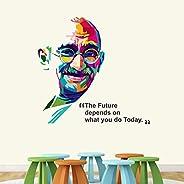 StickMe ' Mahatma Gandhi - Father of Nation - BAPU - Office Motivational Inspirational Quotes Wall Sticker