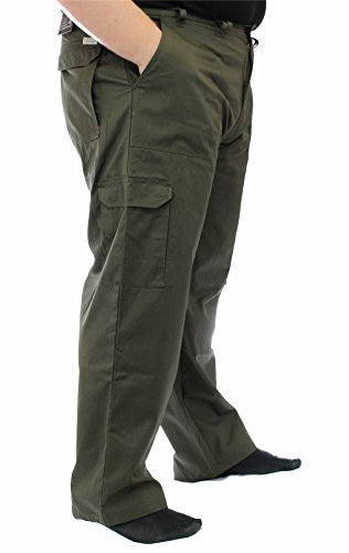 ED BAXTER Victory - Heavy Duty Cargo Combat Trousers - Khaki