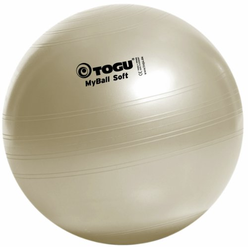 Togu Gymnastikball My-Ball Soft, perlweiß, 75 cm, 418651 (Stuhl Gymnastik-ball)
