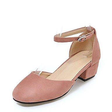 LvYuan Da donna-Sandali-Formale Casual Serata e festa-D'Orsay-Quadrato-Finta pelle-Nero Rosa Rosso Grigio Pink
