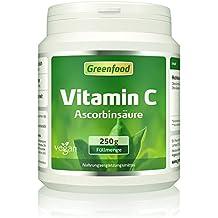Vitamin C, 250 Gramm Pulver – für bärenstarke Abwehrkräfte, gesunde Zähne und Zahnfleisch, starkes Bindegewebe. Garantiert OHNE Gentechnik. Ohne künstliche Zusätze. Vegan.