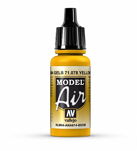 Vallejo Model Air, Colore Acrilico, 17 ml, Gold Yellow
