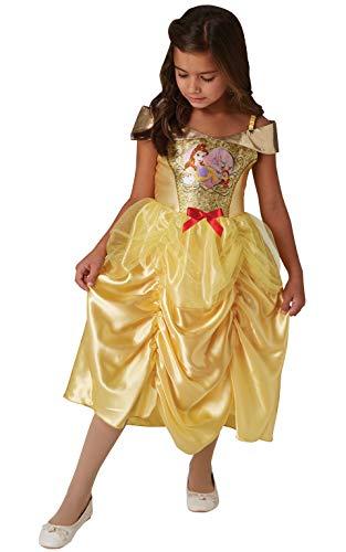 Kostüm Belle Ballkleid Goldenen - Rubie's Offizielles Disney Prinzessin Pailletten Belle Klassisches Kostüm für Kinder