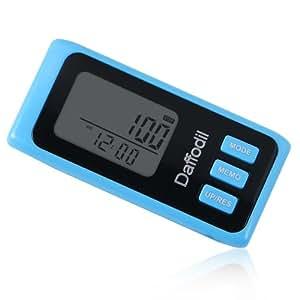 Daffodil HPC650 - Exakter Schrittzähler mit 7-Tage Speicher, Kalorienzähler und Fortschrittsmonitor (Blau)