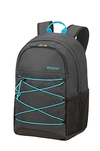 American Tourister Road Quest Medium for 15.6 Zoll Laptop Rucksack, 28 Liter, Graphite/Turquoise