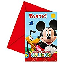 Amscan Pack 6 Invitaciones, Mickey Mouse, Papel, Unica, 6 Unidades