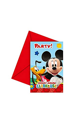 Mickey Maus Wunderhaus 6 Einladungskarten (Maus Micky Einladung)