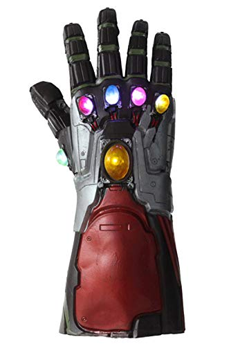 The Avengers Endgame Iron Man Handschuhe Neuheit Latex Light Up Glove Cosplay Prop