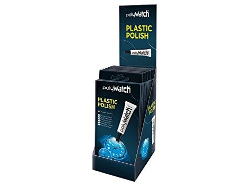polyWatch Plastik Kratzer-Entferner Set Polish Politur 6er-Pack für Uhrgläser & Acrylglas