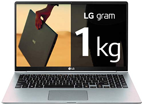 "LG Gram 15Z990-V - Ordenador portátil ultraligero de 15,6"" FHD IPS (1kg, autonomía 21,5h, Intel i7 8ª gen., 8GB RAM, 256GB SSD, Windows 10 Home) Plata - Teclado Español"