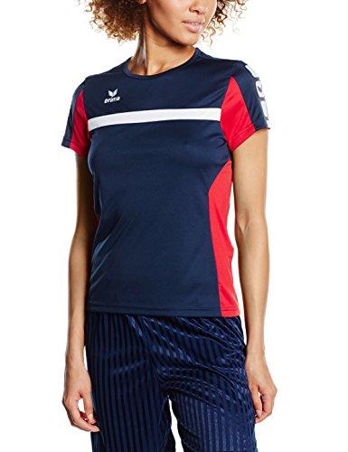 erima Damen Classic 5-C T-shirt, new navy/rot, 38
