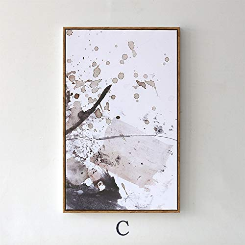 zlhcich Kunst Raum schwarz und weiß abstrakte Moderne Wohnzimmer Dekoration malerei Restaurant C Abschnitt 50 * 70 cm [mit Rahmen]