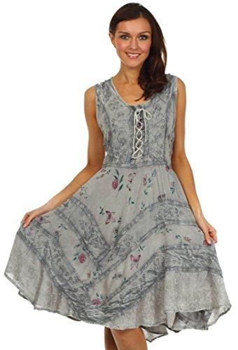 Sakkas Fairy Maiden Abito stile corsetto Grigio