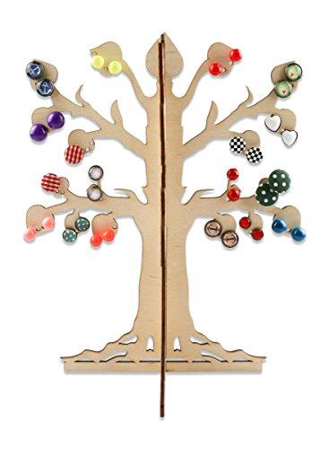 Schmuckbaum zur Aufbewahrung für Ohrringe & Ohrstecker aus Holz Schmuckhalter für Ketten und weitere schöne Mode Accessoires